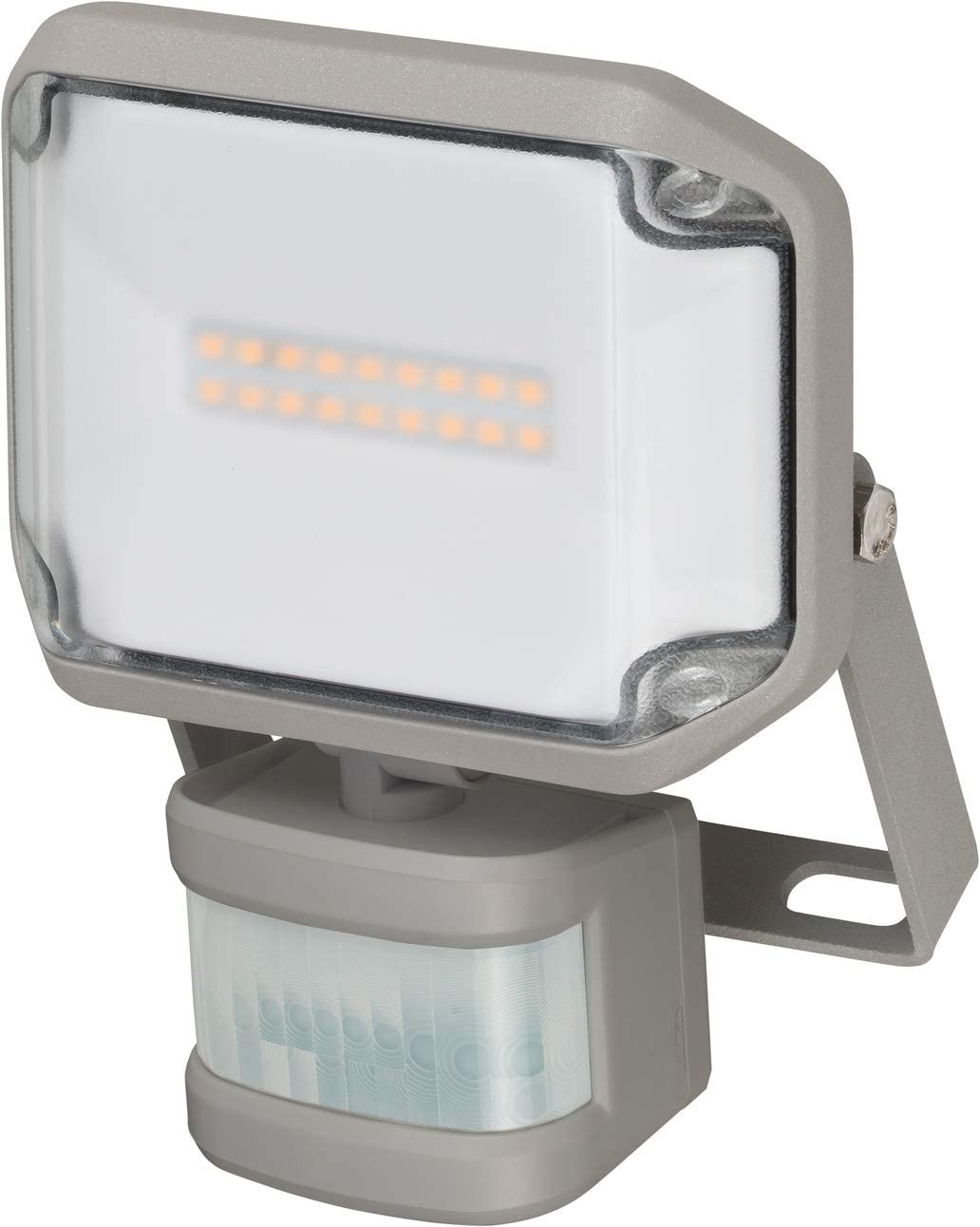 Brennenstuhl LED Strahler AL 1000 P LED Fluter f/ür au/ßen mit Bewegungsmelder LED-Au/ßenstrahler zur Wandmontage, 10W, warmwei/ßes Licht, IP44