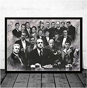 Empty Godfather Goodfellas Scarface Sopranos Movie Art Poster Canvas Painting Wall Picture Home Decor Posters and Prints-60x90cm No Frame