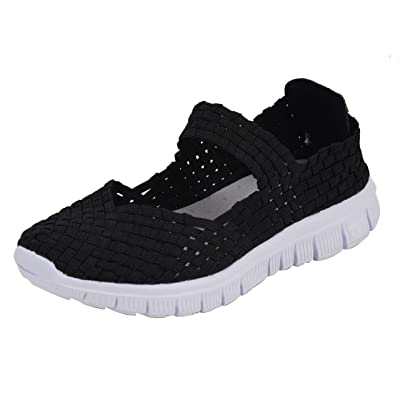 CAMSSOO Women's Close Toe Flats Walking Shoes Comfor Slip On Lightweight Breathable Loafers Shoe | Walking