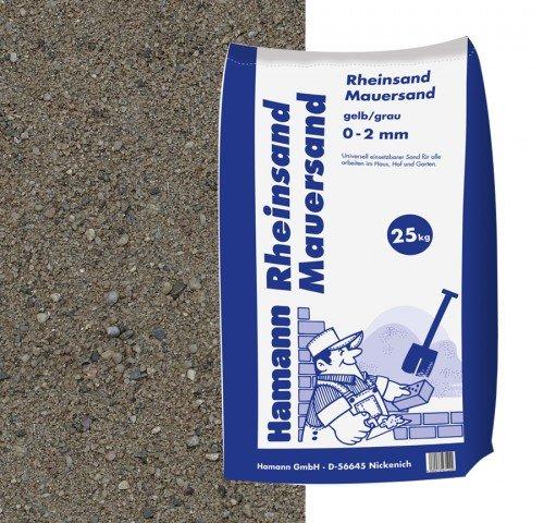 Rheinsand Mauersand 25 kg Sack