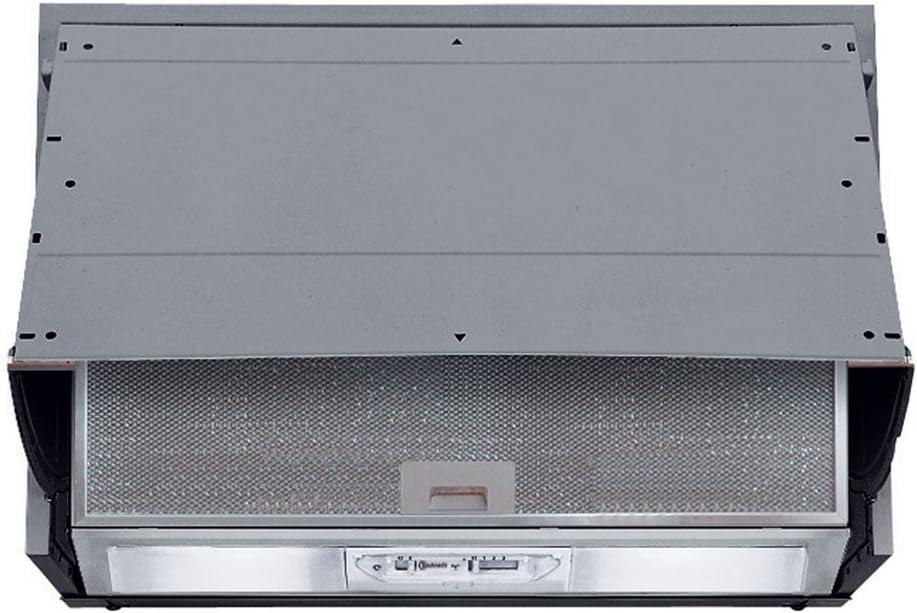 Bauknecht DE 5360 SG Telescópica o extraplana Gris 340m³/h - Campana (340 m³/h, Canalizado/Recirculación, 66 dB, 160 m³/h, 49 dB, Telescópica o extraplana): Amazon.es: Hogar