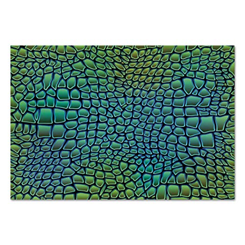 Large Wall Mural Sticker [ Abstract,Alligator Skin African Animal Crocodile Reptile Safari Wildlife Vibrant Artwork,Green Blue ] Self-Adhesive Vinyl Wallpaper/Removable Modern Decorating Wall Art ()