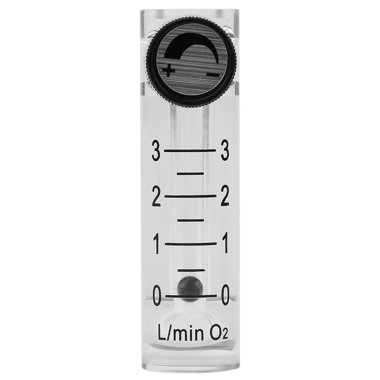 LZQ-2 0-3LPM Misuratore di portata per gas professionale con valvola di controllo per ossigeno//aria//gas, Misuratore di portata per gas