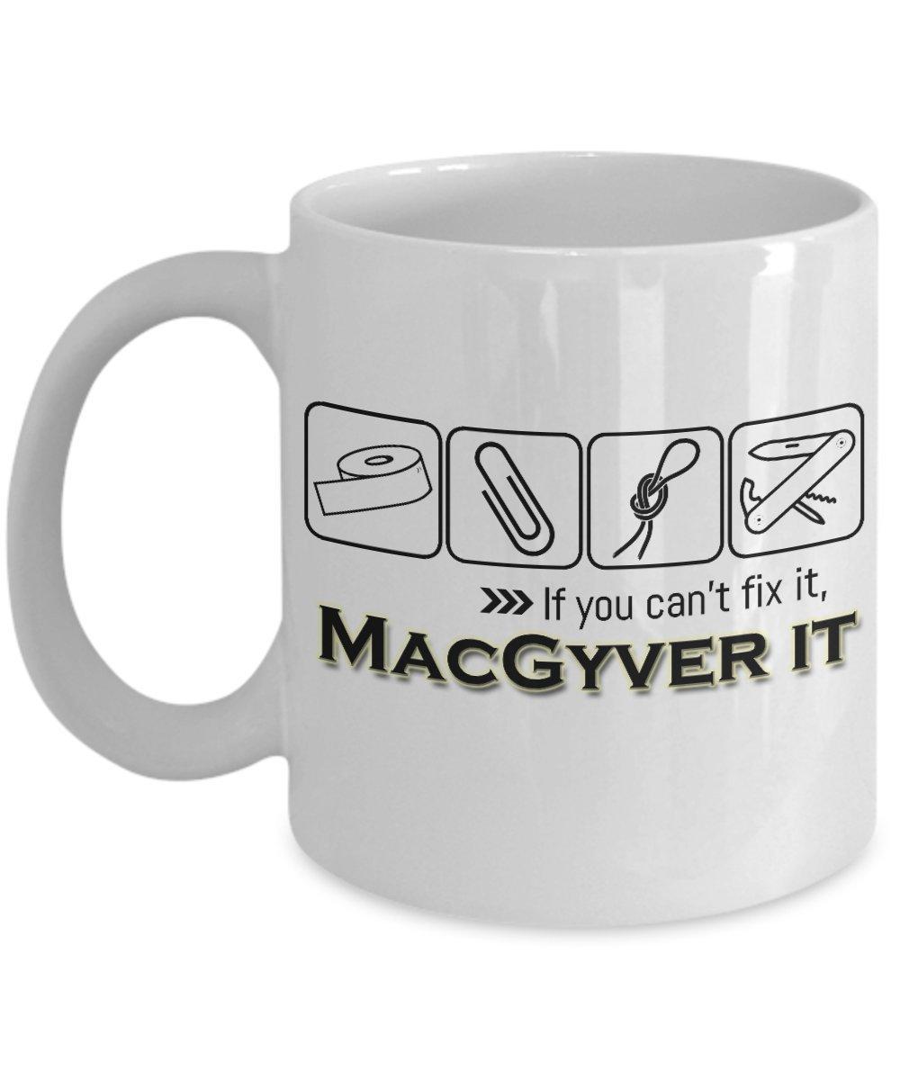 満点の MacGyver It – ホワイトセラミックお茶やコーヒーfan-inspiredマグ It – ユニークで面白いギフトfor Men 11oz ホワイト ホワイト MacGyver 11oz B0722SD538, きものの美 ゆたかや:f53a8d78 --- movellplanejado.com.br