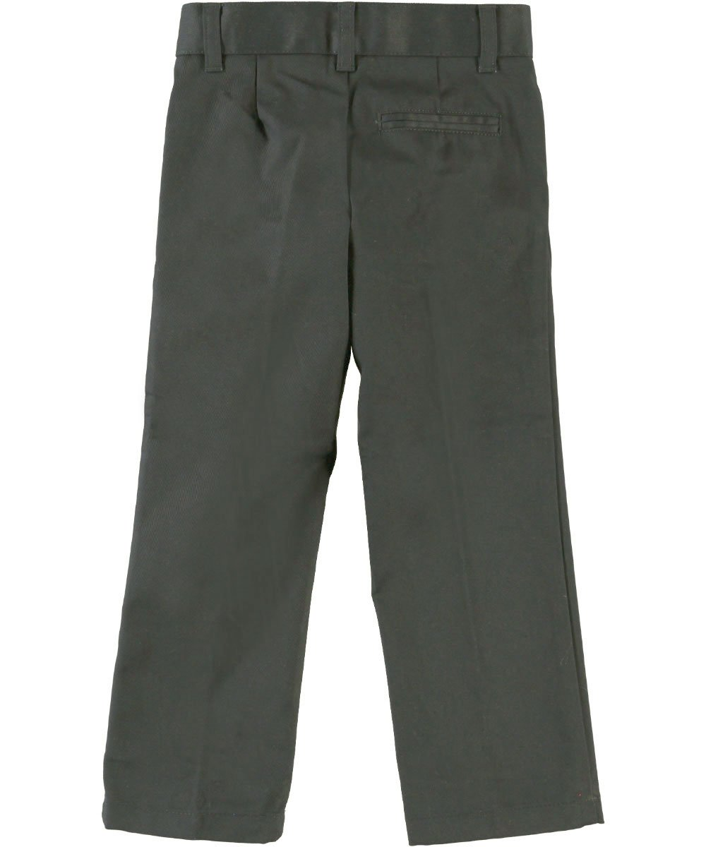 French Toast boys' adjustable waist double knee pant-Grey-4