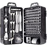 A-XINTONG Conjunto de chaves de fenda de precisão 135 em 1, kit multifuncional de ferramentas de reparo magnéticas de aço van