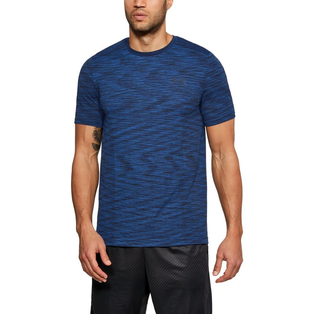 Under Armour Men's Threadborne Seamless T-Shirt, Moroccan Blue (487)/Academy, Small