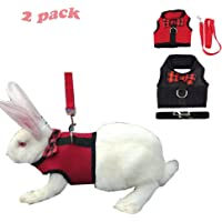Yu-Xiang Rabbit Soft Harness Pet Leash Small Animalfor Guinea Pig Cat Squirrel Harness (Red+Black, S)