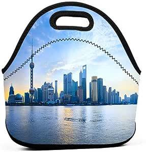 Amazon.com: Cityscape Lunch Bag, Shanghai Pudong Cityscape