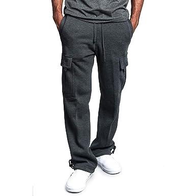 Alaso - Pantalón de chándal para Hombre Gris Oscuro M: Amazon.es ...