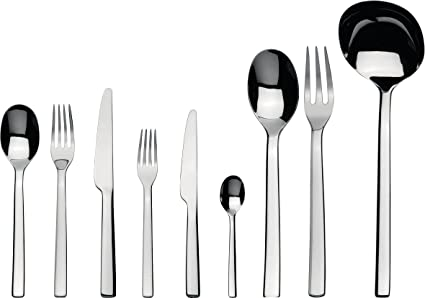 Amazon Com Alessi Ovale Flatware Set Of Twelve Table Spoons