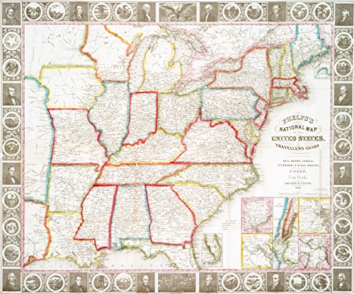 Historic 1848 Map | Phelps's national map of the United States : a travellers guide | United States -- Distances, etc. -- Maps | United States -- Maps, TouristMaps of North America. |