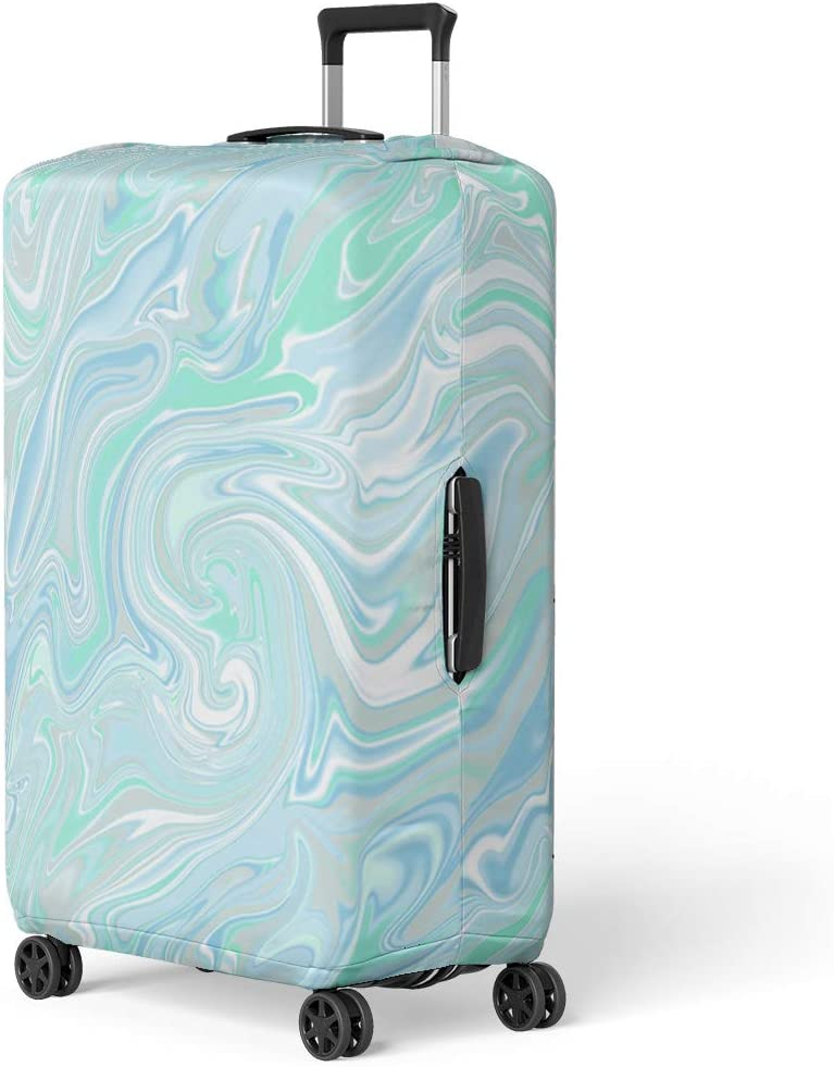 Pinbeam Luggage Cover French Lavender Oil in Watercolor Essential Bottles Travel Suitcase Cover Protector Baggage Case Fits 22-24 inches