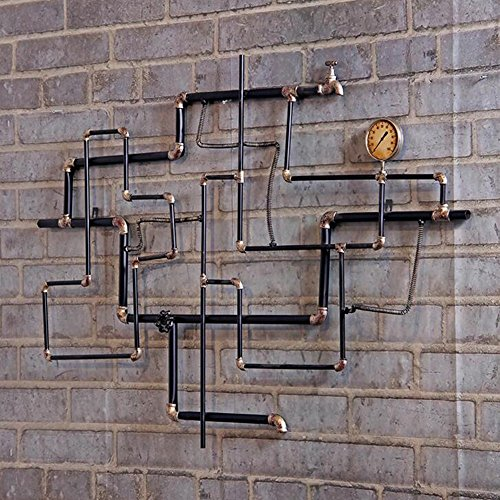Amazon Com Shelves Meiduo Wall Mount Iron Pipe Shelf Diy Open