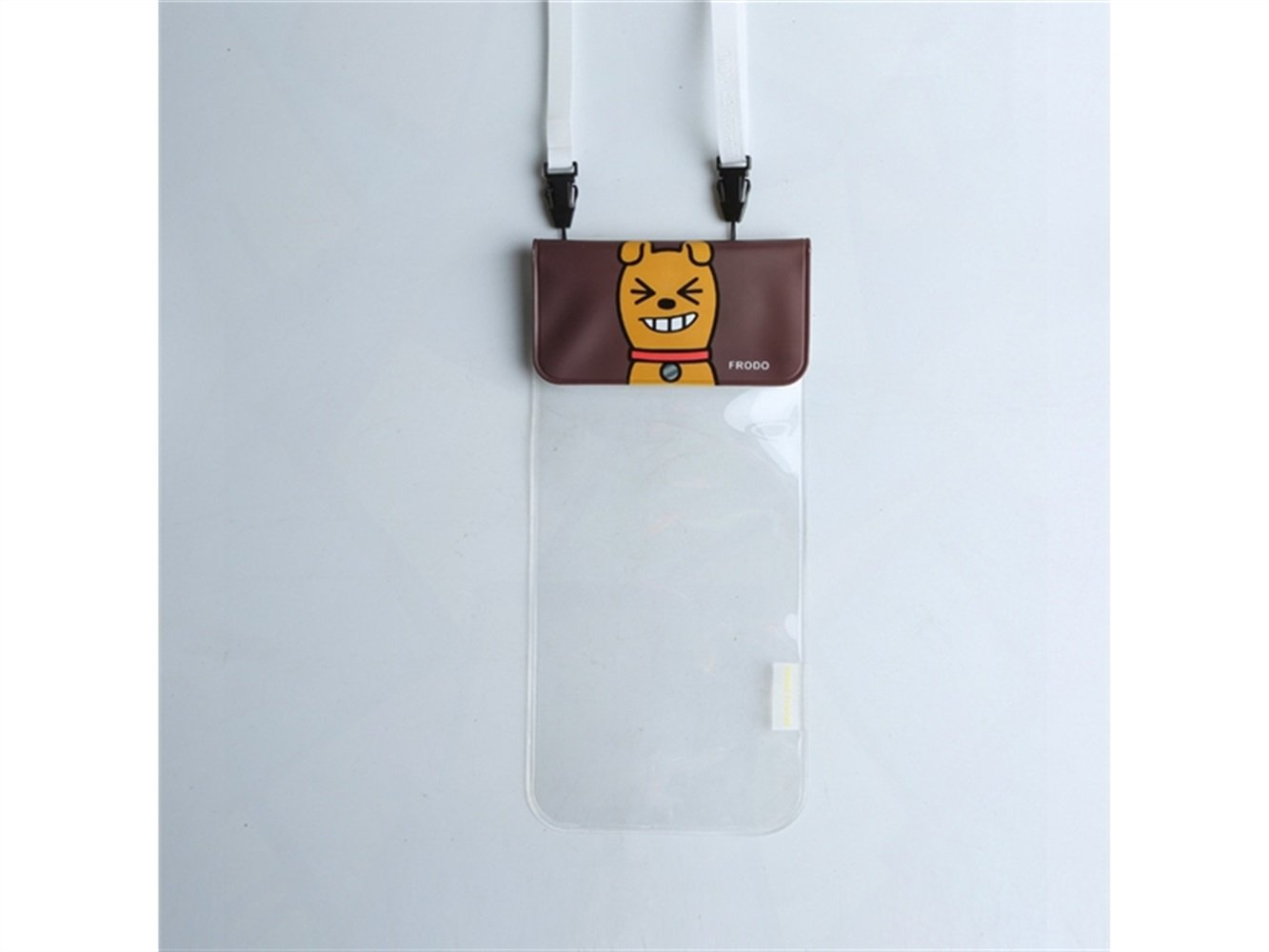Wesource Good Protecter Cartoon Animal Transparent Hanging Neck Waterproof Phone Bag Cute Phone Pouch for Outdoor Swimming