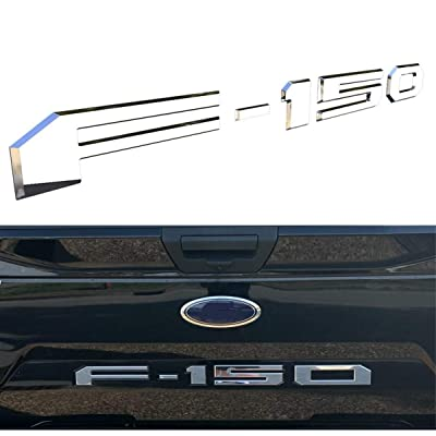 Tailgate Insert Letters for Ford F150 2020 2020 2020-3M Adhesive & 3D Raised Tailgate Decal Letters - Chrome Silver: Automotive