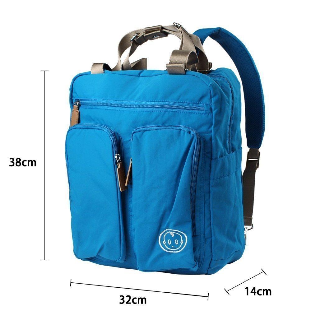 YuHan Baby Diaper Bag Travel Backpack Shoulder Bag Fit Stroller Changing Pad Nappy Backpack Blue