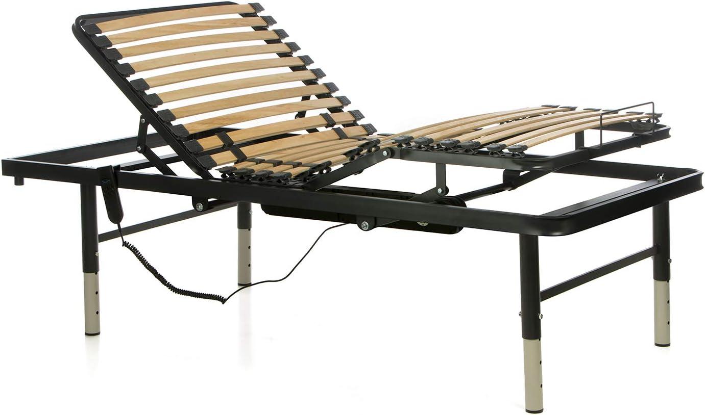 Ferlex - Cama articulada eléctrica geriátrica hospitalaria con Patas Regulables en Altura (105x190)