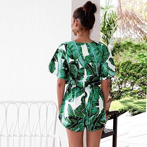 ALAIX Vestito da Donna Abito Tuta Pagliaccetto Floreale con per Le Vacanze al Mare