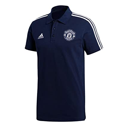 b7dec61764f Amazon.com   adidas 2018-2019 Man Utd 3S Polo Football Soccer T-Shirt  Jersey (Navy)   Sports   Outdoors