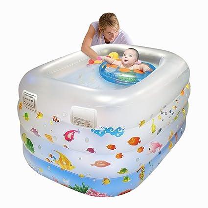 LYM Bañera hinchable para recién nacido, bañera, piscina, baño, baño ...