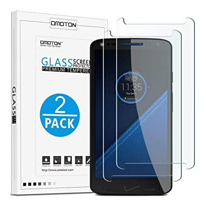 OMOTON Motorola Droid Turbo 2 Screen Protector [2 Pack] - [Scratch Resistant]