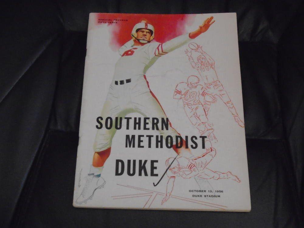 1956 Smu At Duke College Football Program Sonny Jurgensen At Amazon S Sports Collectibles Store