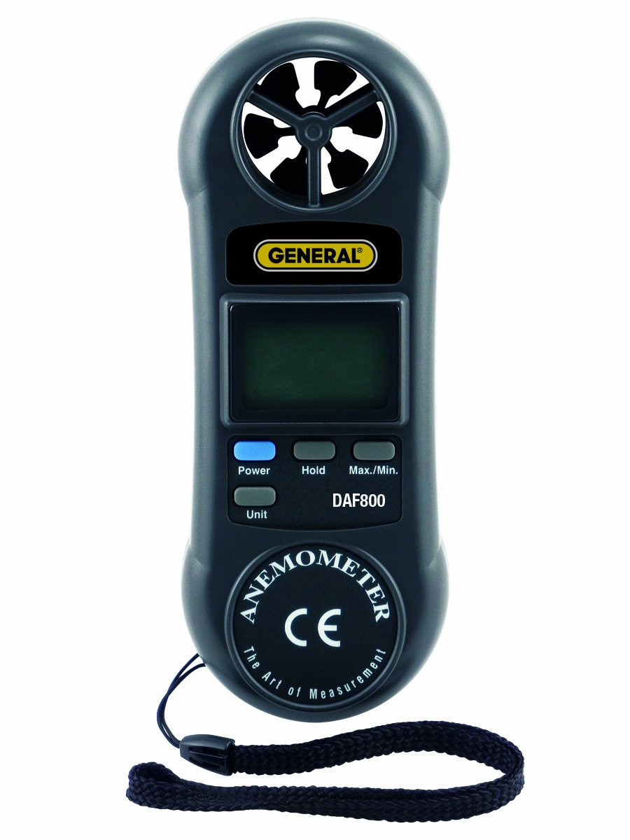 General Tools DAF800 Mini Digital Airflow Meter