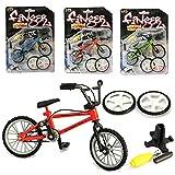 AumoToo Finger Bicycle, Miniature Metal Toys Extreme Sports Finger Mountain Bike Creative Games Kids Christmas Gift (Color Random)
