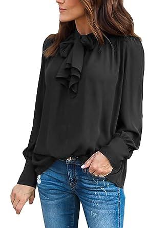 black chiffon shirt long sleeve