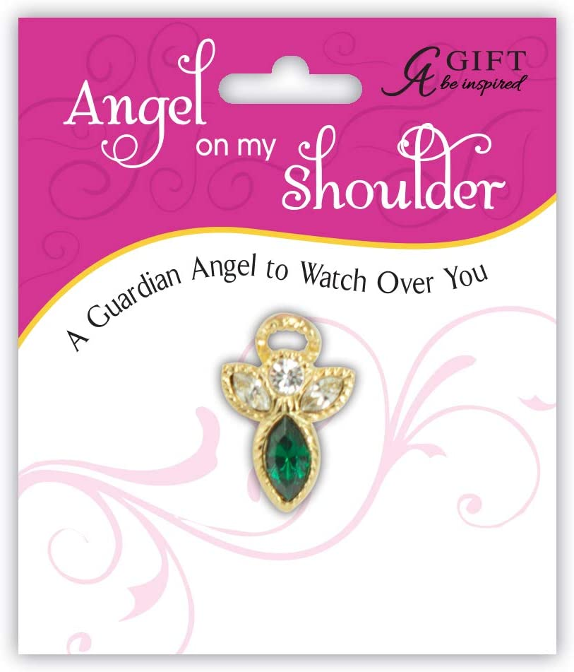 Cathedral Art Birthstone Pin-May Emerald Multicolored