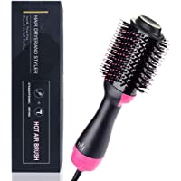 Hair Dryer Brush,3-in-1Hot Air Straightener Curler Function, Hair Styler, Anti-Scald,Perfect Hot Air Brush for Women