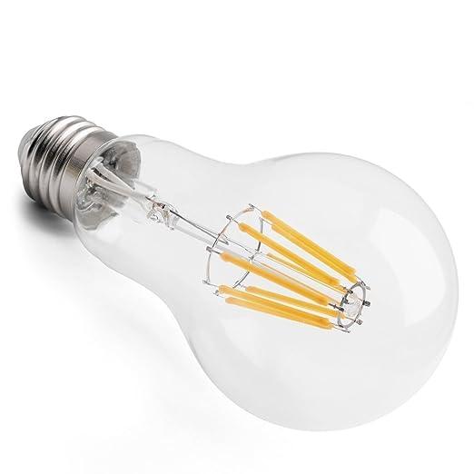 E27 LED Glühfaden Birne 10w COB extra warmweiß ~75-100w Glühbirne ...