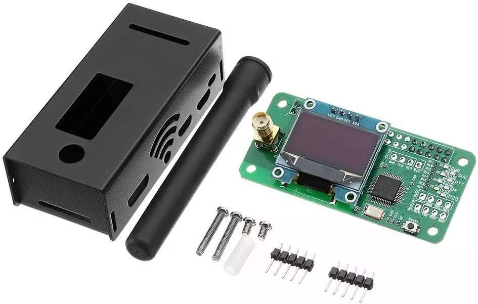 ZhanPing Antenna OLED Aluminum Case MMDVM Hotspot Support P25 DMR YSF Fit For Raspberry Arduino compatible