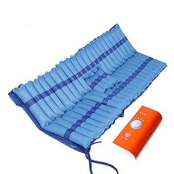Lxn Colchón inflable antiescaras especial Colchón de una plaza Colchón antiescaras con orificio Fluctuación Sistema de colchón con bomba muda: Amazon.es: ...