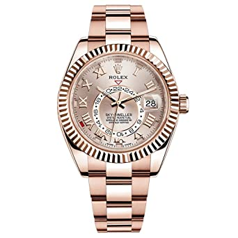 Amazon.com Rolex Sky,Dweller 42mm Everose Gold Watch 326935