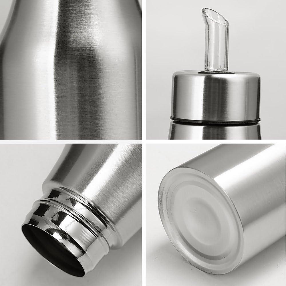 para la cocina de acero inoxidable resistente al polvo resistente Aceitera Kompassswc 1000 ml con boquilla plata acero inoxidable