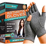 ComfyBrace Arthritis Hand Compression Gloves – Comfy Fit, Fingerless Design, Breathable & Moisture Wicking Fabric – Alleviate Rheumatoid Pains, Ease Muscle Tension, Relieve Carpal Tunnel Aches (Large)