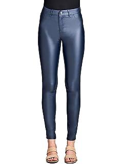 a427fa65c73459 Instar Mode Women's Coated Faux Leather Legging Pants/Jumpsuit/Skirt/Dress