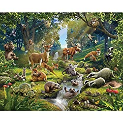 Walltastic WT43060 Animals of the Forest Wall Mural
