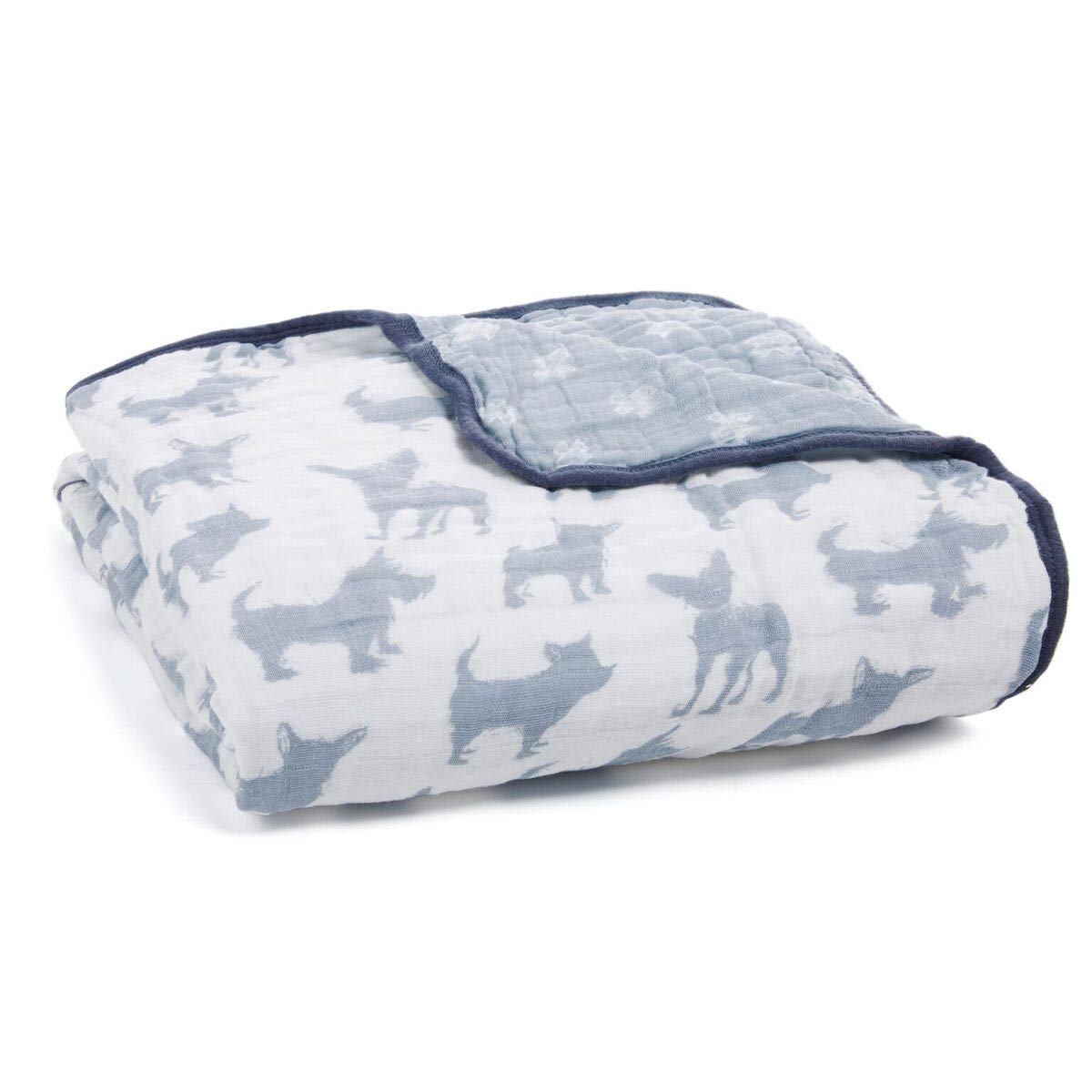 aden + anais Dream Blanket | Boutique Muslin Baby Blankets for Girls & Boys | Ideal Lightweight Newborn Nursery & Crib Blanket | Unisex Toddler & Infant Bedding, Shower & Registry Gift, Waverly, Dog by aden + anais