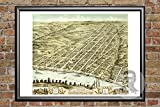 This is a high-quality, digitally restored fine art print of Clarksville, Tennessee from 1870. The Ted's Vintage Maps team has worked hard to restore this print to as close to its original condition as possible - removing any tears, stains, c...