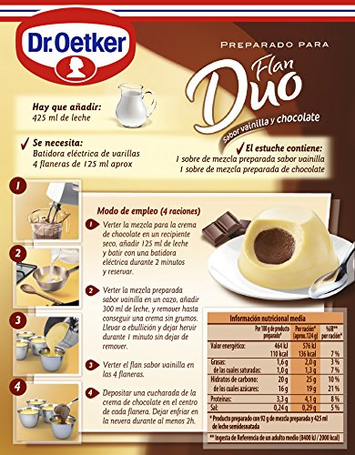 OETKER preparado para flan duo vainilla y chocolate caja 92 gr: Amazon.es: Alimentación y bebidas