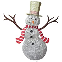 Santas Forest 58305 Christmas Snowman with LED Lights Deals
