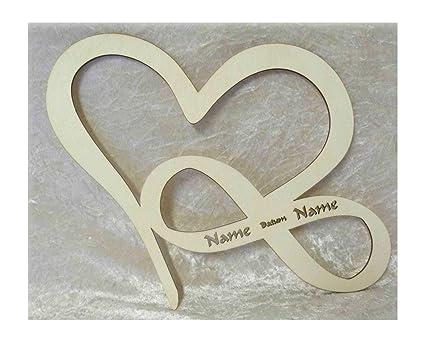 Schlummerlicht24 Led Unendlichkeitszeichen Herz Liebe Mit Namen