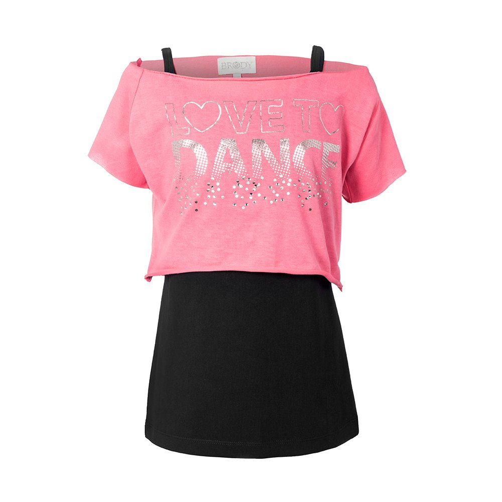 Brody & Co. Girls Dance T-Shirts Vests Double Layer Love to Dance Tops