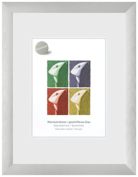 Nielsen Largo Brushed Silver A3 Plastic Glass (297 x 420 mm), silver ...