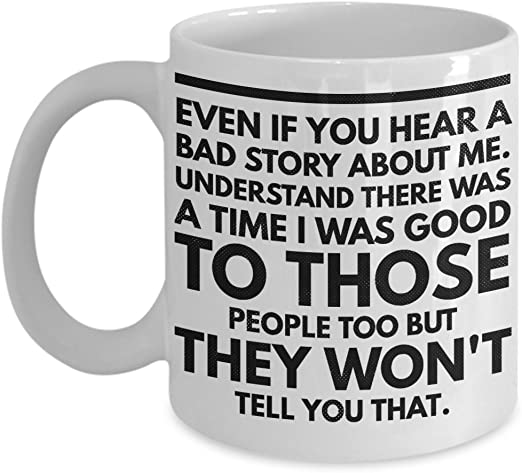 White Ceramic Mug- 11 oz. COFFEE BUT FIRST Funny Coffee Mug /& Tea Mug- Fun Mugs- Funny Gift for Women /& Men
