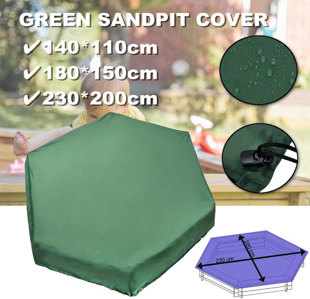 EUGNN Thick Sandbox Cover with Drawstring,Hexagonal Oxford Cloth Waterproof Dust Protection Sandbox Cover for Home Garden Outdoor Pool
