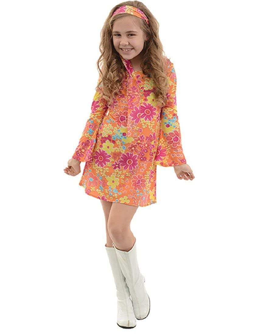 Vintage Style Children's Clothing: Girls, Boys, Baby, Toddler Child Girls Fifties 1950s Flower Child Peace Love Happiness Halloween Costume $36.82 AT vintagedancer.com